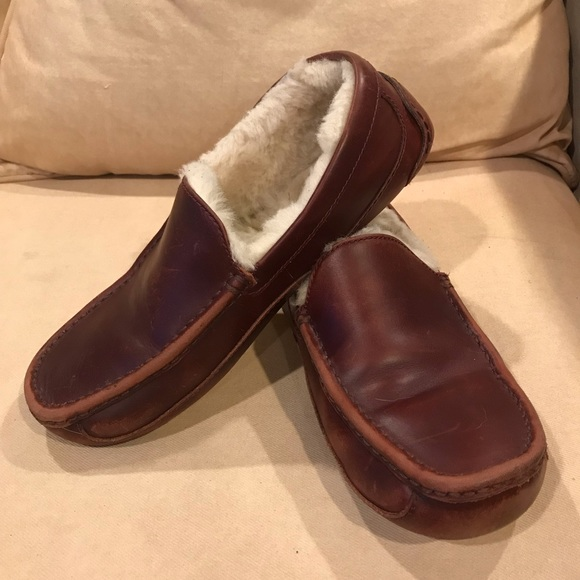 537c55d7315 Men's Ugg Ascot Slipper - Cordovan Leather